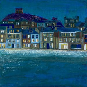 St IVES AT NIGHT. Limited edition seaside town print