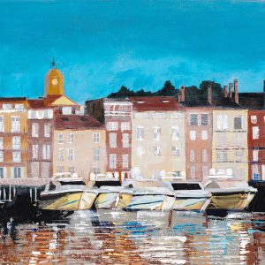 PORT de St TROPEZ. Limited edition seaside town print.